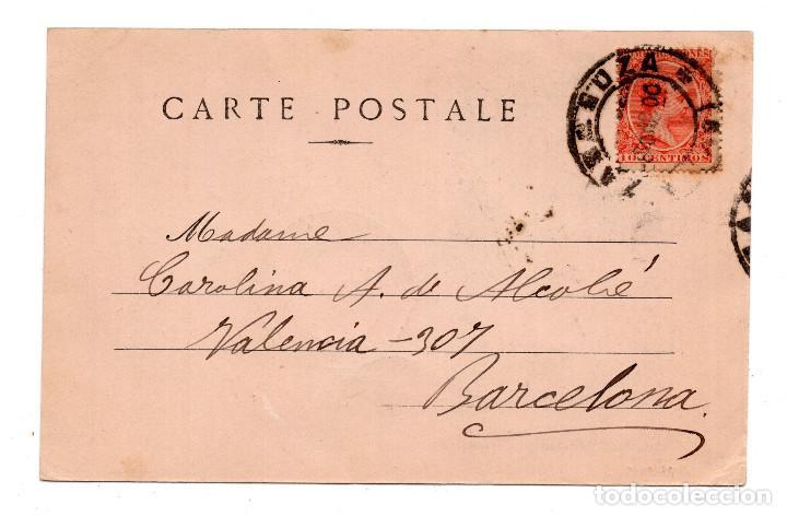 Postales: FOTO REUTLINGER. CON SELLO ALFONSO XIII PELON. - Foto 2 - 110237827