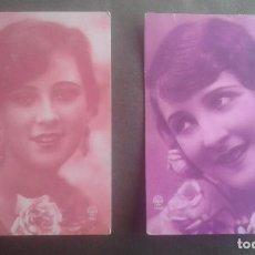 Postales: LOTE DE 2 POSTALES ANTIGUAS A.MOYER. CHICAS. FRANQUEADAS AÑOS 1929 Y 1930.. Lote 110857855