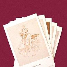 Postales: FEDERICO RIBAS - LOTE DE 5 POSTALES. Lote 114539671