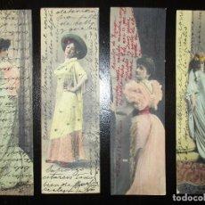 Postales: CUATRO POSTALES CIRCULADAS EN FORMATO 14 X 4,5 CMS. SERIE MARKART. 1905/1907.. Lote 115285991