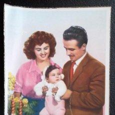 Postales: PAREJA CON INFANTE. NUEVA. VER FOTO. Lote 116101035