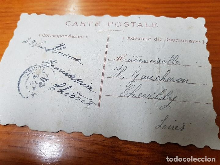 Postales: ANTIGUA POSTAL ROMANTICA TROQUELADA RELIEVE - Foto 2 - 119911207