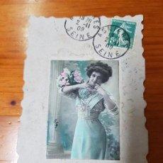 Postales: ANTIGUA POSTAL ROMANTICA TROQUELADA RELIEVE. Lote 119911207