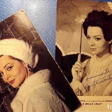 Postales: SARA MONTIEL - DOS FOTOS POSTALES PROMOCIÓN LA BELLA LOLA. Lote 121606499