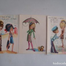 Postales: 3 POSTALES DE MARÍA GLORIA MILI MILITAR MARINE (CYZ, AÑOS 60).. Lote 121628787