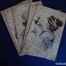 Postales: (PS-56378)LOTE DE 5 POSTALES ILUSTRADAS. Lote 122787455