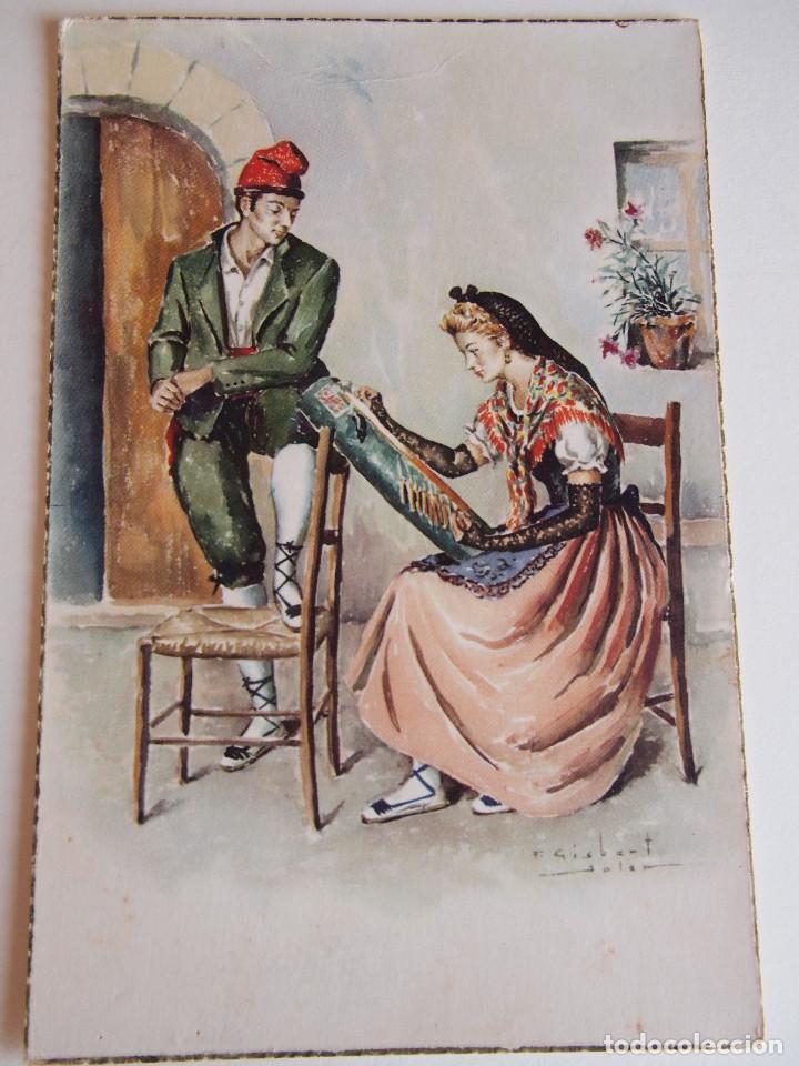 POSTAL ILUSTRADA POR GISBERT SOLER, F.* EDC. C.Y Z . SERIE 554-A Nº 4 (Postales - Postales Temáticas - Galantes y Mujeres)