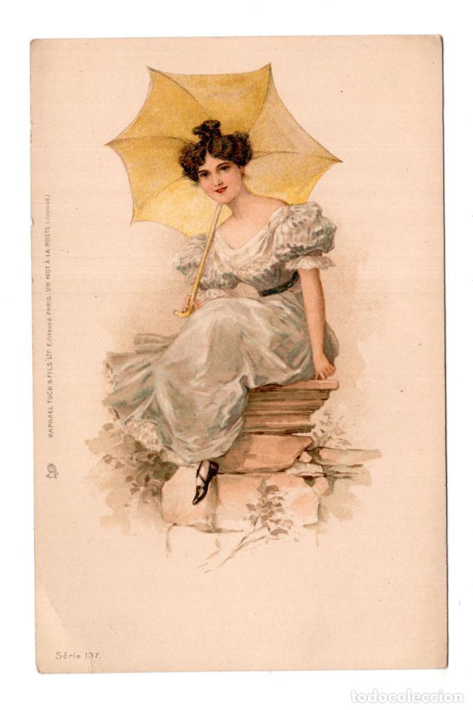 SEÑORITA CON SOMBRILLA - RAFHAEL TUCK . PARIS (Postales - Postales Temáticas - Galantes y Mujeres)