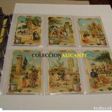 Postales: PUBLICIDAD ESPAÑA SPAIN CROMOLITOGRAFIAS ESCENAS TIPICAS - LIEBIG´S EXTRAC. Lote 125230983