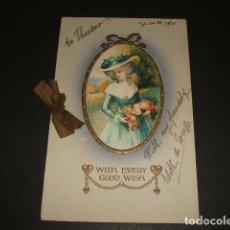 Postales: MUJER ELEGANTE POSTAL 1911. Lote 128209111