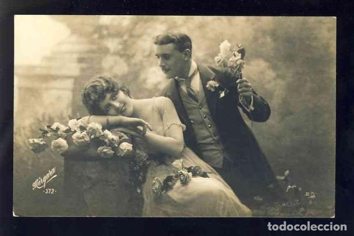 POSTAL ROMANTICA: PAREJA DE ENAMORADOS (MARGARA 372) (Postales - Postales Temáticas - Galantes y Mujeres)