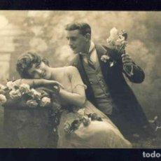 Postales: POSTAL ROMANTICA: PAREJA DE ENAMORADOS (MARGARA 372). Lote 132063890