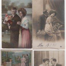 Postales: LOTE DE 26 POSTALES GALANTES. AÑOS 1900 - 1920. VER FOTOS. Lote 132647722