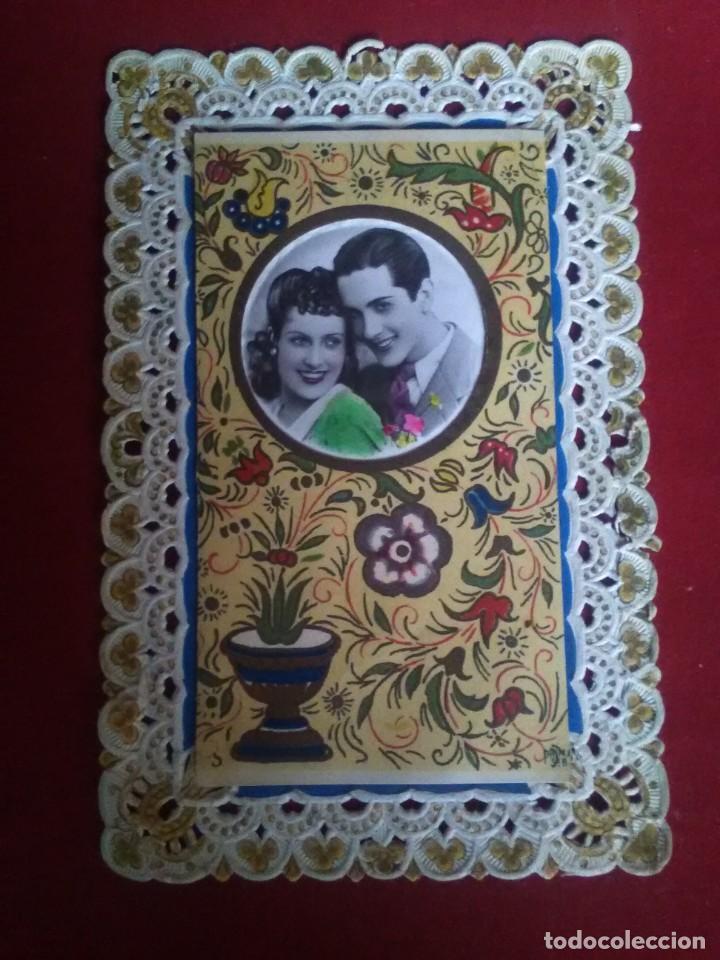BONITA POSTAL TROQUELADA ROMANTICA (Postales - Postales Temáticas - Galantes y Mujeres)