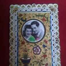 Postales: BONITA POSTAL TROQUELADA ROMANTICA. Lote 132830974