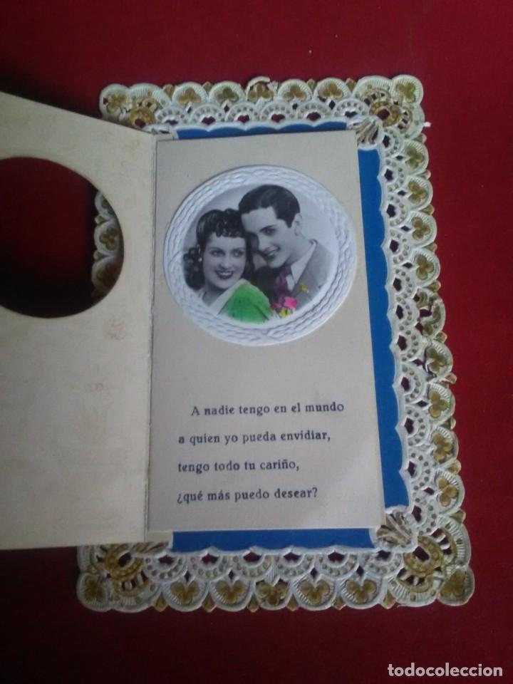 Postales: Bonita postal troquelada romantica - Foto 2 - 132830974
