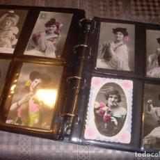 Postales: PECULIAR ALBUM CON 314 POSTALES ANTIGUAS DE EPOCA CON ARTISTAS FUMANDO..ESTAN TODAS LAS FOTOS. Lote 133027890