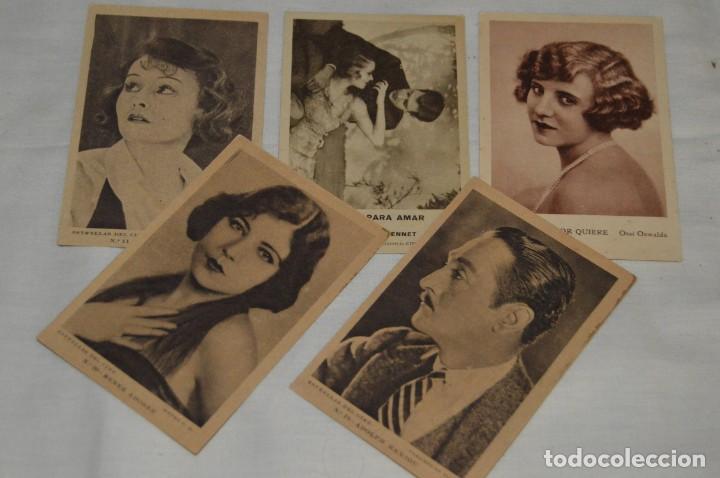 LOTE DE 5 POSTALES ANTIGUAS SIN CIRCULAR - ESTRELLAS DE CINE Y OTRAS - VINTAGE - ENVÍO 24H (Postales - Postales Temáticas - Galantes y Mujeres)