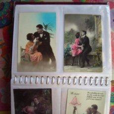 Postales: ALBUM CON 75 POSTALES ROMANTICAS. Lote 134918782