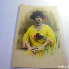 Postales: MAGNIFICA POSTAL ANTIGUA SOBRE 1915 DAMA CON MANTON DE MANILA. Lote 135012926