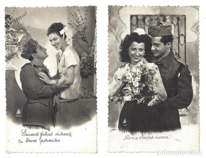 Lote De 2 Postales Románticas Antiguas Pareja Comprar Postales