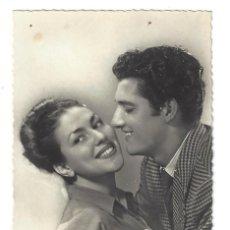 Postales: POSTAL ROMÁNTICA ANTIGUA- PAREJA DE ENAMORADOS. CYZ Nº 148. ESCRITA- 1957. Lote 136064570