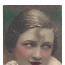 Postales: POSTAL ROMÁNTICA ANTIGUA COLOREADA- MUJER. FOTOCELERE. FRANCE. ESCRITA- 1929. Lote 136142494