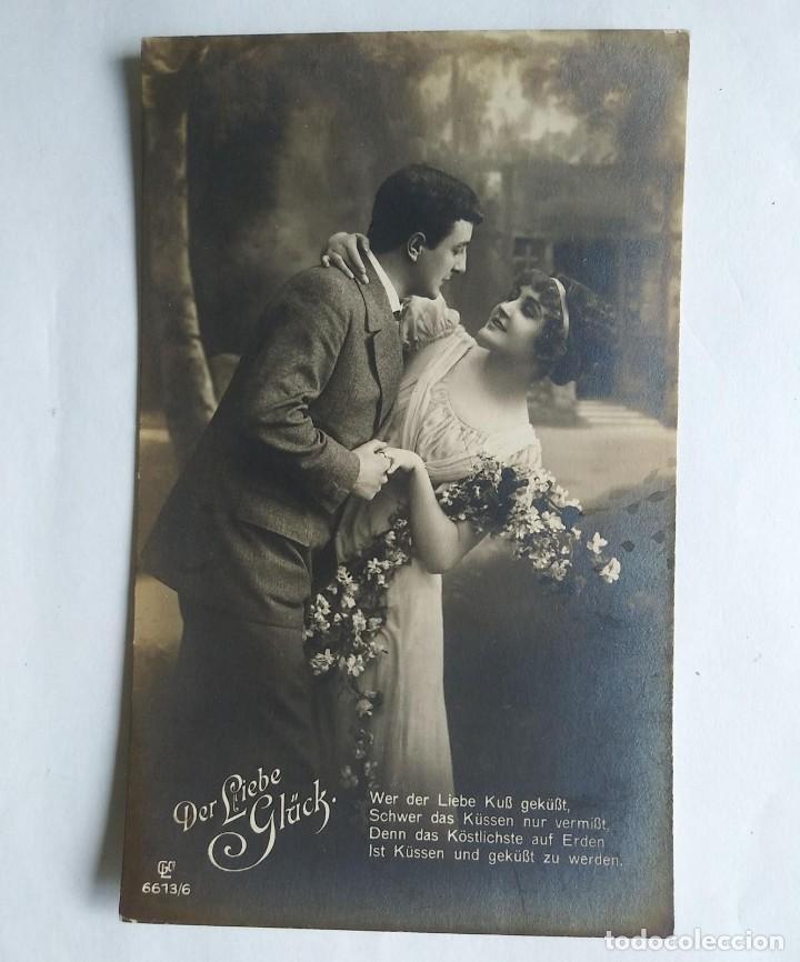 FOTO POSTAL ROMÁNTICA ALEMANA SIN CIRCULAR DER LIEBE GLÜCK (Postales - Postales Temáticas - Galantes y Mujeres)
