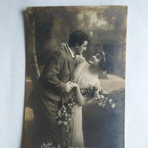 Foto postal Romántica alemana sin circular Der Liebe Glück