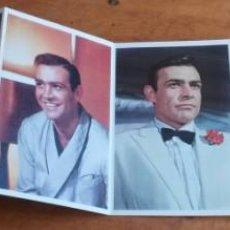 Postales: DESPLEGABLE POSTALES JAMES BOND. SEAN CONNERY. 15 FOTOS Y BIOGRAFIA. Lote 171522425