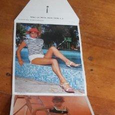Postales: DESPLEGABLE POSTALES ACTRICES SEXY. 8 FOTOS. AÑOS 60. Lote 139789234