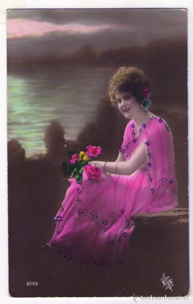 LOTE DE 18 POSTALES AÑOS 1910-1920 SIN CIRCULAR NI ESCRIBIR EN EXCELENTE ESTADO (Postales - Postales Temáticas - Galantes y Mujeres)