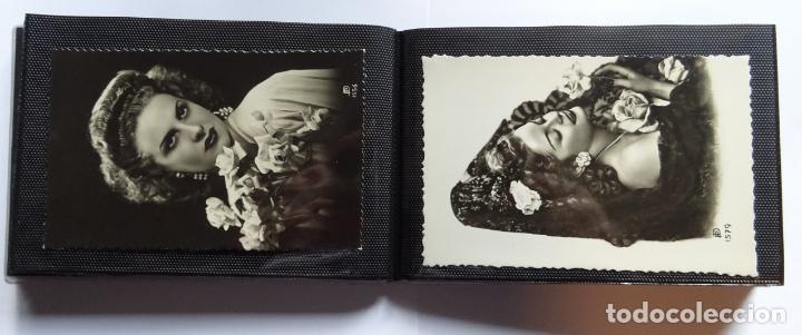 Postales: 45 antiguas postales de felicitación presentadas en una carpeta. Ver fotografías. - Foto 10 - 140505626