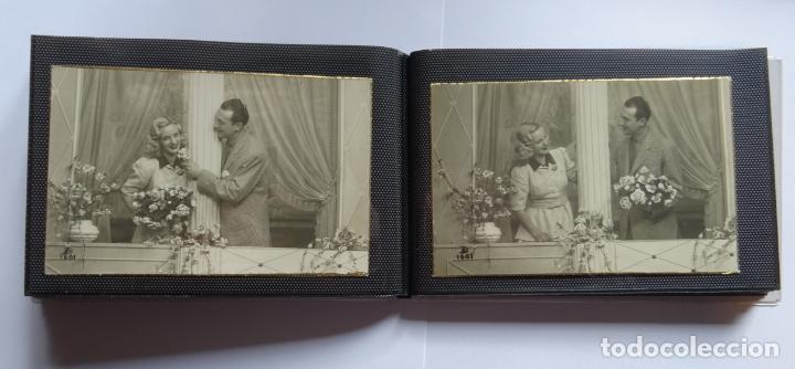 Postales: 45 antiguas postales de felicitación presentadas en una carpeta. Ver fotografías. - Foto 11 - 140505626