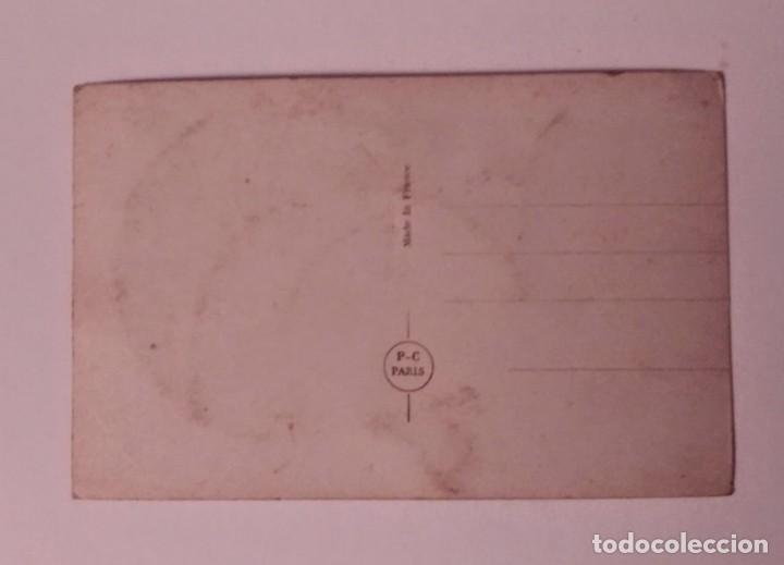 Postales: postal francesa decorada con purpurina - Foto 2 - 140773162