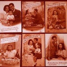 Postales: 6 POSTALES GALANTE PAREJAS REEDICIÓN COLECCIÓN PERLA NUEVO. Lote 142013774