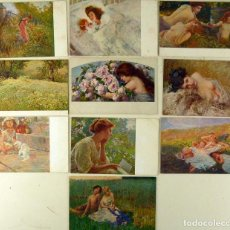 Postales: LOTE 22 POSTALES MUJERES, ILUSTRADORES ITALIANOS - T. B. M. - C. 1910 - SIN CIRCULAR. Lote 142125442