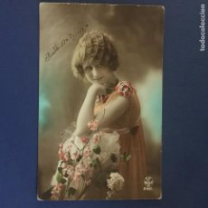 Postales: POSTAL ROMANTICA COLOREADA. ED. A.NOYER 2921. ESCRITA 1919.. Lote 144611722