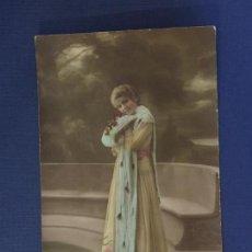 Postales: POSTAL ROMANTICA COLOREADA. ED.ROB 258. ESCRITA 1919.. Lote 144615142