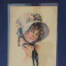 Postales: POSTAL AMERICAN GIRL Nº 41. ED. EDWARD GROSS CO, N.Y. ESCRITA 1919.. Lote 144754190