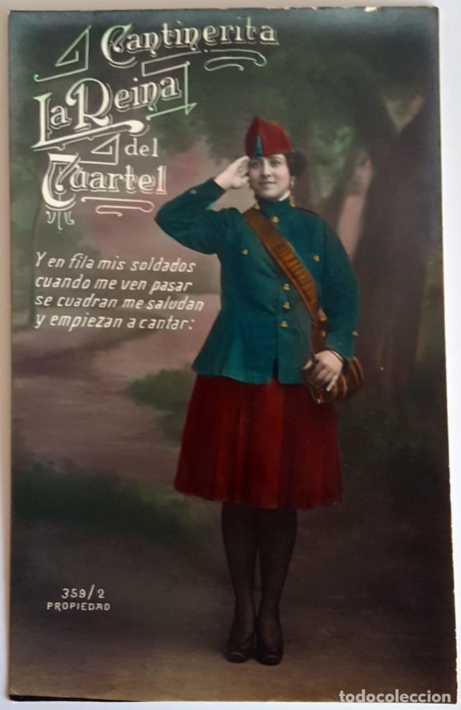 Postales: 8 POSTALES ANTIGUAS (Circa 1919) CANTINERITA LA REINA DEL CUARTEL - CONSECUTIVAS: 1 A 8. SIN USO. - Foto 2 - 146343126