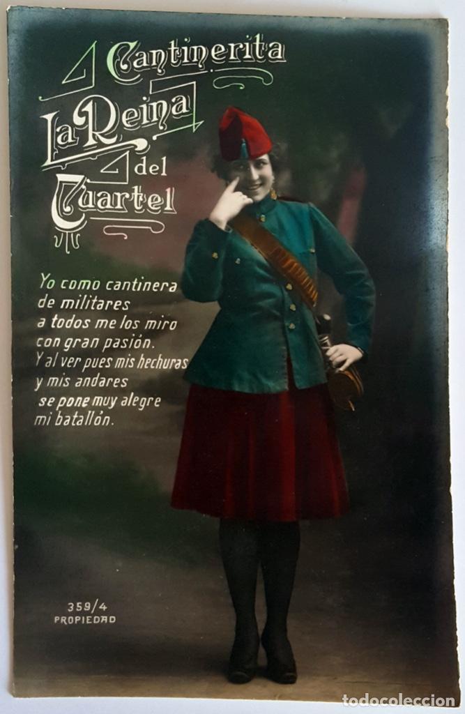 Postales: 8 POSTALES ANTIGUAS (Circa 1919) CANTINERITA LA REINA DEL CUARTEL - CONSECUTIVAS: 1 A 8. SIN USO. - Foto 4 - 146343126