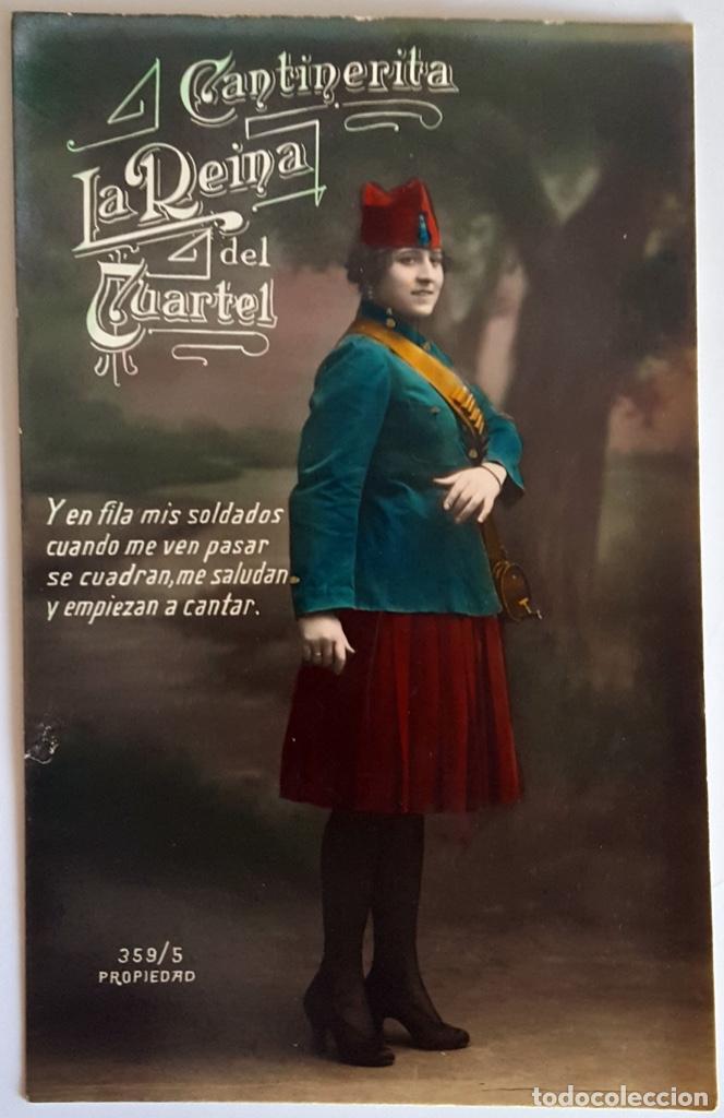 Postales: 8 POSTALES ANTIGUAS (Circa 1919) CANTINERITA LA REINA DEL CUARTEL - CONSECUTIVAS: 1 A 8. SIN USO. - Foto 5 - 146343126