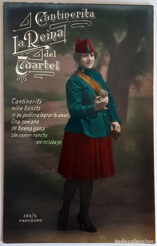 Postales: 8 POSTALES ANTIGUAS (Circa 1919) CANTINERITA LA REINA DEL CUARTEL - CONSECUTIVAS: 1 A 8. SIN USO. - Foto 6 - 146343126