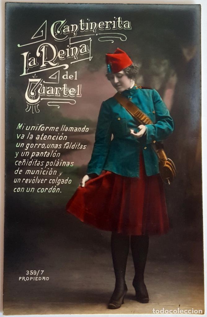 Postales: 8 POSTALES ANTIGUAS (Circa 1919) CANTINERITA LA REINA DEL CUARTEL - CONSECUTIVAS: 1 A 8. SIN USO. - Foto 7 - 146343126