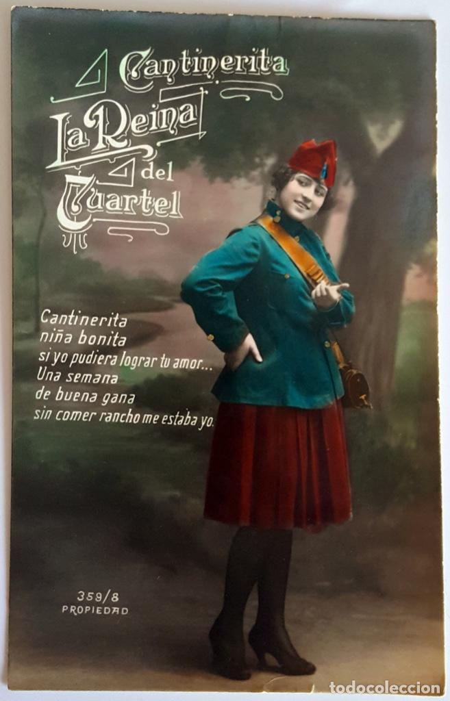 Postales: 8 POSTALES ANTIGUAS (Circa 1919) CANTINERITA LA REINA DEL CUARTEL - CONSECUTIVAS: 1 A 8. SIN USO. - Foto 8 - 146343126