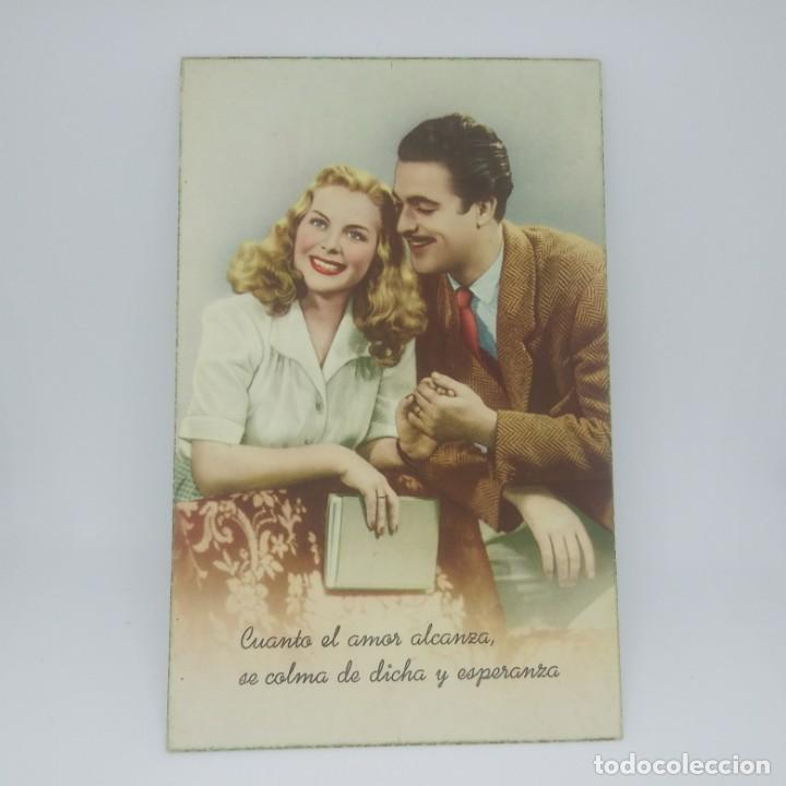 Postales: POSTAL - ROMÁNTICA - CUANDO EL AMOR ALCANZA - C. Y Z. - CYZ 585 - NUEVA AÑOS 50 - Foto 2 - 147437418