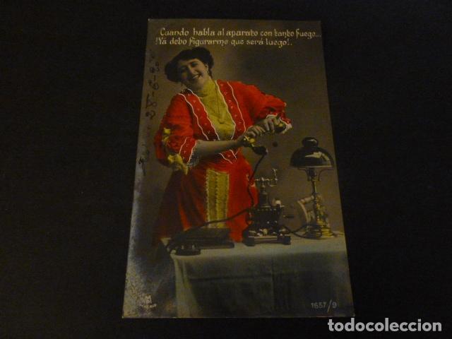 CONCHITA ORIA EL TELEFONO ARTISTA CUPLETISTA ESPAÑOLA POSTAL (Postales - Postales Temáticas - Galantes y Mujeres)