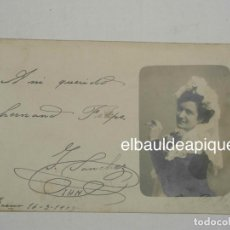 Postales: MUJER. FOTO DE JOSE BALDECK. 1908. CCTT. Lote 148269090