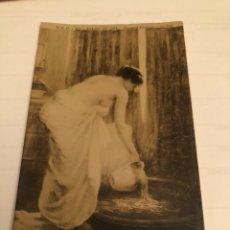 Postales: ANTIGUA POSTAL CON MUJER, SALÓN DE 1911. Lote 149247512